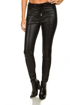 Aaiko |  Faux leather pants Sosa | black