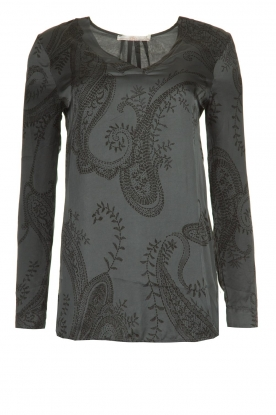 Aaiko |  Blouse with paisley print | grey
