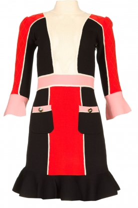ELISABETTA FRANCHI |  Color block dress Main | multi