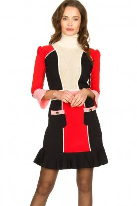 ELISABETTA FRANCHI    Color block dress Main   multi