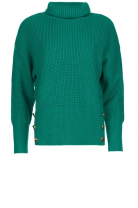 ELISABETTA FRANCHI | Knitted turtle neck sweater Charlotte | green