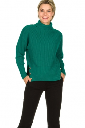 ELISABETTA FRANCHI |  Knitted sweater Charlotte | green