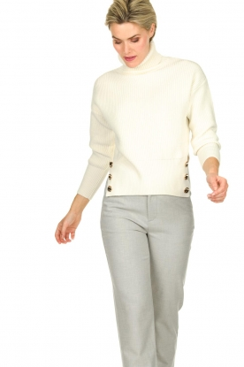 ELISABETTA FRANCHI | Knitted sweater Charlotte | natural