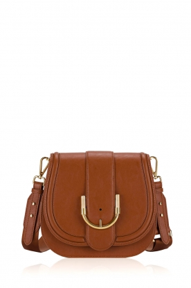 ELISABETTA FRANCHI | Faux leather shoulder bag Anita | brown