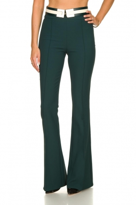 ELISABETTA FRANCHI | Flared trousers Loes | green