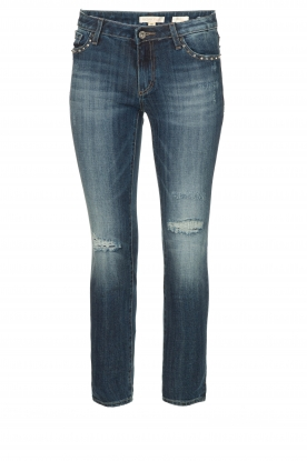 Fracomina | Studded jeans with ripped details Romy | blue