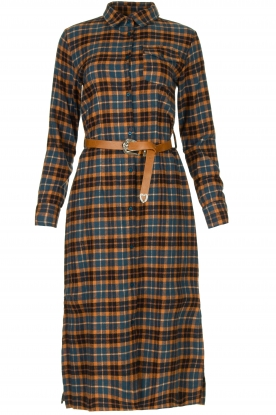 Fracomina |  Checkered dress with belt Donna | brown