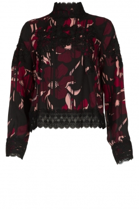 Fracomina |  Floral top with embroideries Chloe | multi