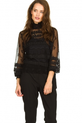 Fracomina |  Lace top Lucia | black
