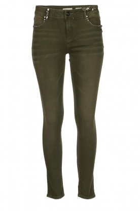 Fracomina | Pants with shimmering details Katy | green