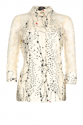 ELISABETTA FRANCHI |  Blouse with stars print Claire | natural