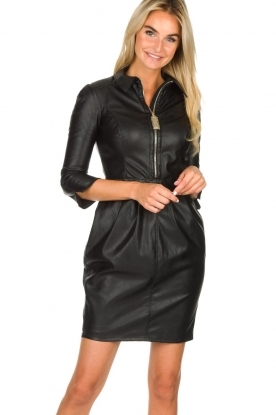 ELISABETTA FRANCHI |  Faux leather dress Tirza | black