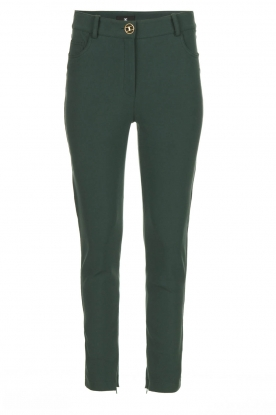 ELISABETTA FRANCHI | Stretch trousers Natalia | green