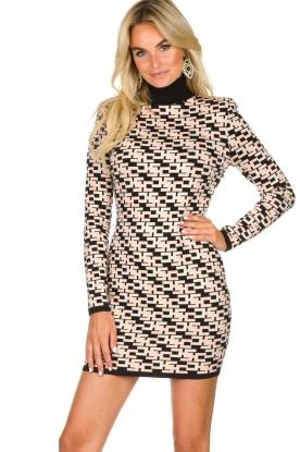 ELISABETTA FRANCHI |  Logo print dress Amber | pink
