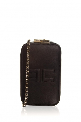 ELISABETTA FRANCHI | Faux leather shoulder bag Amanda | black