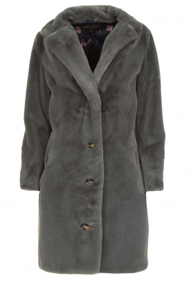 OAKWOOD |  Faux fur coat Cyber | grey