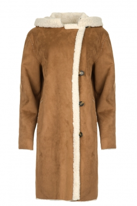 OAKWOOD |  Coat with lammy lining Leonie | camel