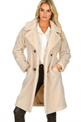 OAKWOOD |  Faux lammy coat  Amazing | beige