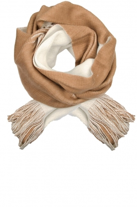Moment by Moment |  Two-coloured scarf Cooper | camel