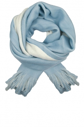 Moment by Moment |  Two-coloured scarf Cooper | blue
