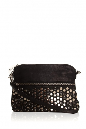 Depeche | Leather shoulder bag Tamara | black