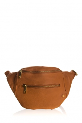 Depeche |  Leather fanny pack Lie | camel