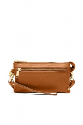 Depeche | Leather shoulder bag | cognac