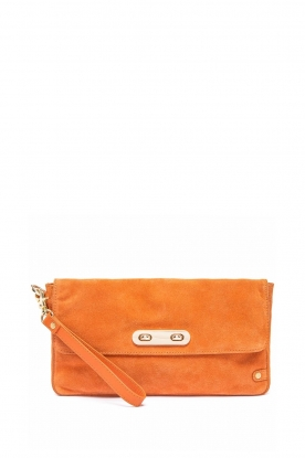Depeche |  Suede clutch Isabella | orange