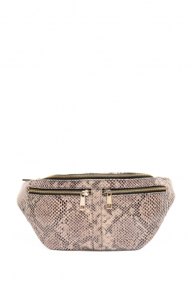 Depeche |  Leather fanny pack Rikki | animal print