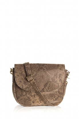 Depeche | Leather shoulder bag with snake print Chloe | multi