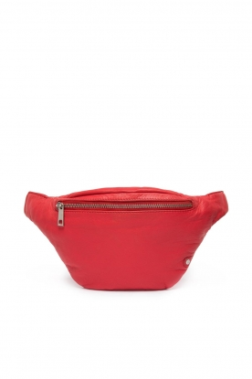 Depeche |  Leather fanny pack Finou | red