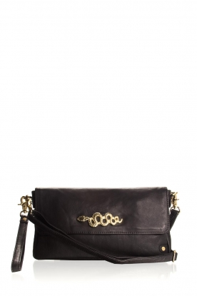 Depeche |  Schoulderbag with gold details Katherine | black