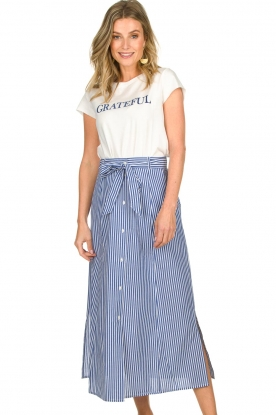 Set | Skirt with stripes Lola | blue