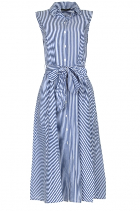 Set | Dress with stripes Isabella | blue