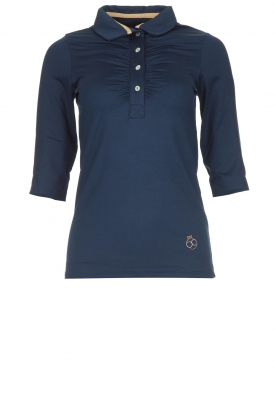 Par 69 | Golf polo Bien Long | shiny blue