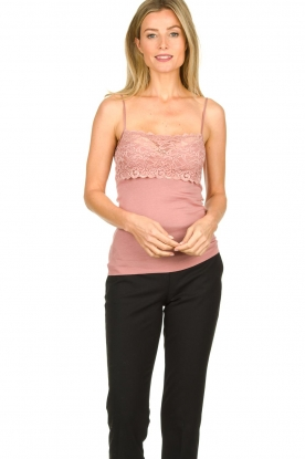 Hanro |  Cami with lace Moments | pink