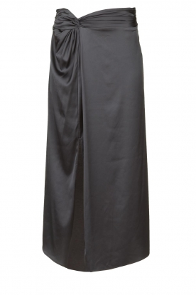 Patrizia Pepe |  Maxi skirt with split Shine | grey black