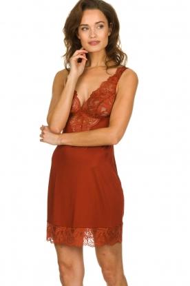 Hanro |  Chemises Chantal | red