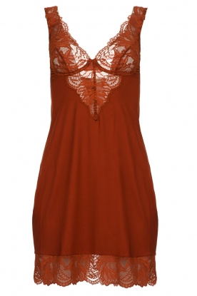 Hanro | Laced chemises Chantal | red