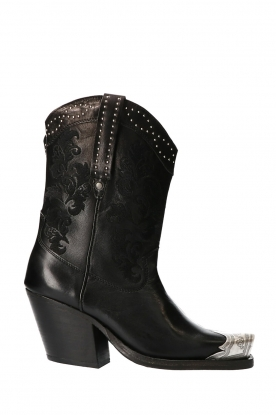 Catarina Martins |  Leather studded western boots Roow | black