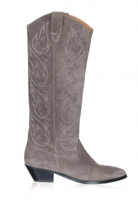 Catarina Martins |  Suede western boots Aba | grey