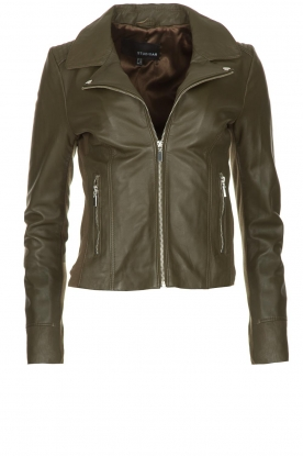 STUDIO AR BY ARMA | Leather jacket Kendall | green