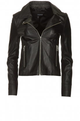 STUDIO AR BY ARMA | Leather jacket Kendall | black