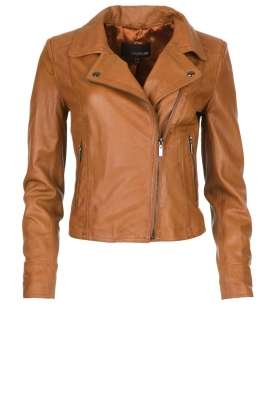 STUDIO AR BY ARMA | Leather biker jacket Lovato | camel