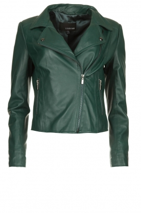 STUDIO AR BY ARMA | Leather biker jacket Lovato | green