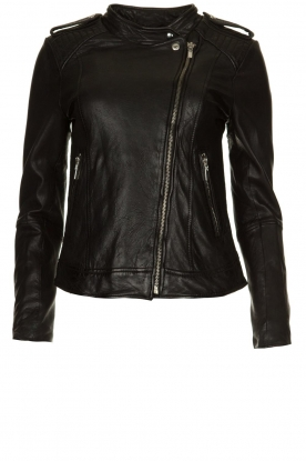STUDIO AR BY ARMA |  Leather biker jacket Bente | black
