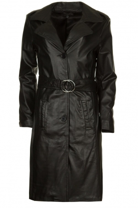 STUDIO AR BY ARMA |  Leather trench coat Era | black
