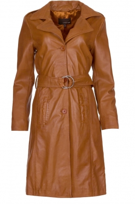STUDIO AR BY ARMA |  Leather trench coat | camel