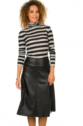 STUDIO AR BY ARMA | Leather skirt Fairchild | black