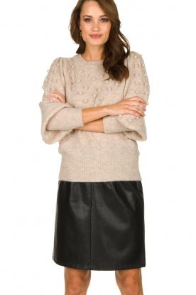 STUDIO AR BY ARMA | Leather skirt Myrte | black